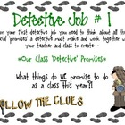 Detective Packet - First Weeks of School
