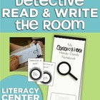 Detective Read &amp; Write the Room Pack (Literacy Center Activities)