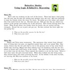 Detective Stories - Inductive Reasoning