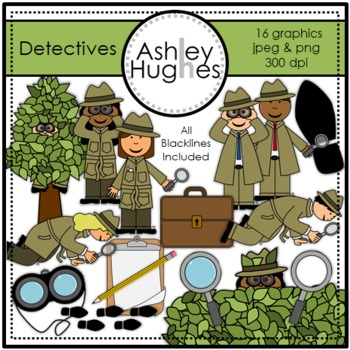 Detectives {Graphics for Commercial Use}