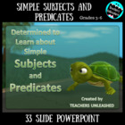 Determined to Learn About Simple Subjects and Predicates P