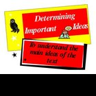 Determining Important Ideas {Reading Strategy Poster}