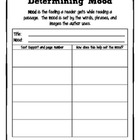 Determining Mood Graphic Organizer