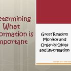 Determining What Information is Important Reading Strategy