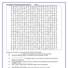 Developmental Psychology Wordsearch