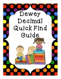 Dewey Decimal Call Number Guide for Nonfiction Section of