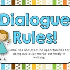 Dialogue and Quotation Mark Tips for BIG Kids!