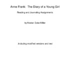Diary of Anne Frank Journaling Project