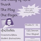 Diary of Anne Frank (The Play) One-Pager