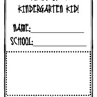 Diary of a Kindergarten Kid!