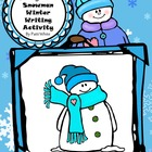 Diary of a Snowman Winter Writing Activity Freebie