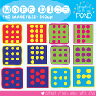 Dice Plus Set - Graphics for Dice Numbers 7 to 12