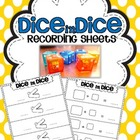 Dice in Dice Recording Sheets {Addition, Subtraction, Grea