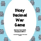 Dicey Decimal War Game