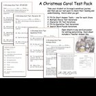 Dickens A Christmas Carol Test Pack NEW