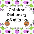 Dictionary Center~October