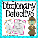Dictionary Detective (Literacy Station Activity)
