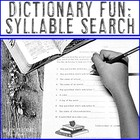 Dictionary Fun - Find the Most Syllables!