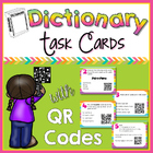 Dictionary Skills QR Code Task Cards