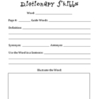 Dictionary Skills and Poetry Skills