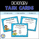 Dictionary Task Cards for Grades 2-3