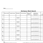 Dictionary Word Search