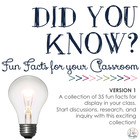 Did You Know? Fun Facts For Your Classroom