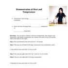 Difference between Heat and Temperature demonstration