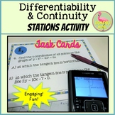 Differentiability and Continuity Stations Activity