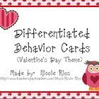 Differentiated Behavior Cards FREEBIE - Valentine's Day Theme