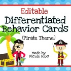 Differentiated Behavior Cards - Pirate Theme