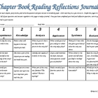Differentiated Chapter Book Reading Reflections Journal