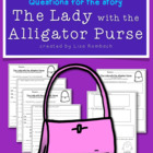 Differentiated Comprehension Questions for Lady with Allig
