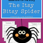 Differentiated Comprehension Questions for The Itsy Bitsy Spider