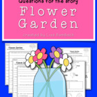 Differentiated Comprehension Questions for the story Flowe