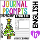 Differentiated Journal Prompts- December Themes