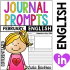 Differentiated Journal Prompts- February Themes