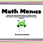 Differentiated Math Menu for the Common Core: Fifth Grade