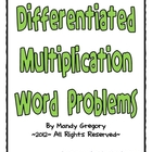 Differentiated Multiplication Word Problems 	