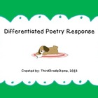 Differentiated Poetry Response (Low Medium High)