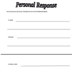 Differentiated Reading Comprehension - Personal Response