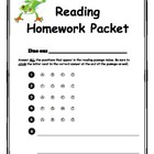 Differentiated Reading Homework Packet