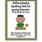 Differentiated Spelling: 308pgs. common core, word work