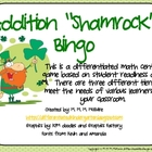 Differentiated St. Patrick's Addition Bingo