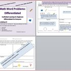Differentiated Word Problems for Common Core Math