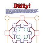 Diffy - Fun Subtraction Math Game! Use with Integers, frac