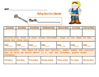 Dig Dig Digging - Construction Calendar - Math
