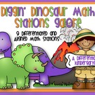 Diggin&#039; Dinosaur Math Stations Galore-Differentiated and A