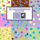 Digital Big Polka Dot Backgrounds