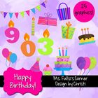Digital Clip Art: Birthday Set